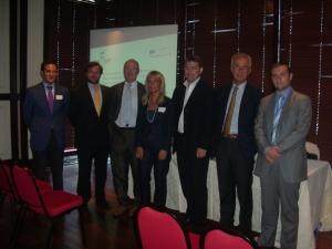 Algunos participantes de la presentación